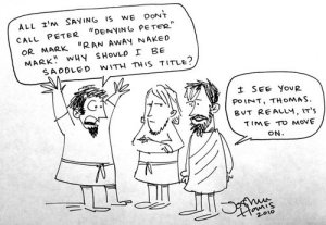 Doubting Thomas cartoon
